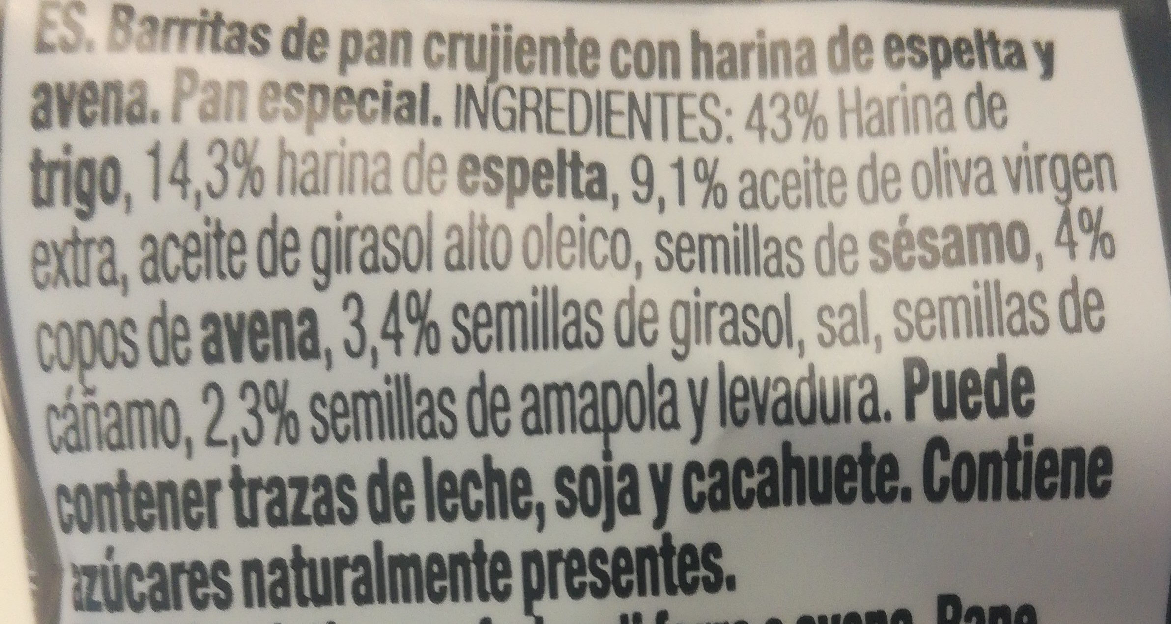 Rosquillas espelta y avena - Ingredientes - es
