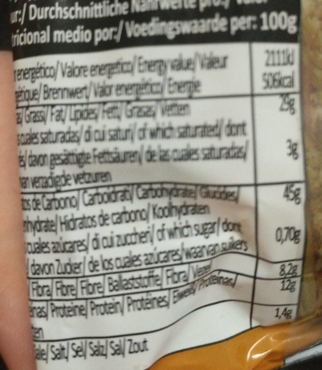 Fibra plus - Información nutricional - es