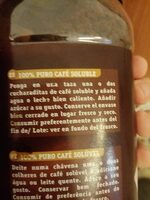 Cafeto - Nutrition facts