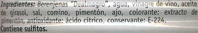 Berenjenas - Ingredientes - es