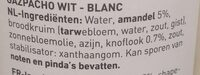 Gazpacho Wit - Ingrediënten - nl