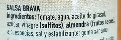 Salsa Brava Ferrer 320G - Ingredientes - es