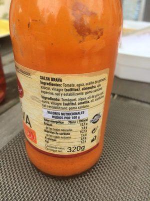 Salsa Brava Ferrer 300G - Spanische Gewürzsoße - Ingredients