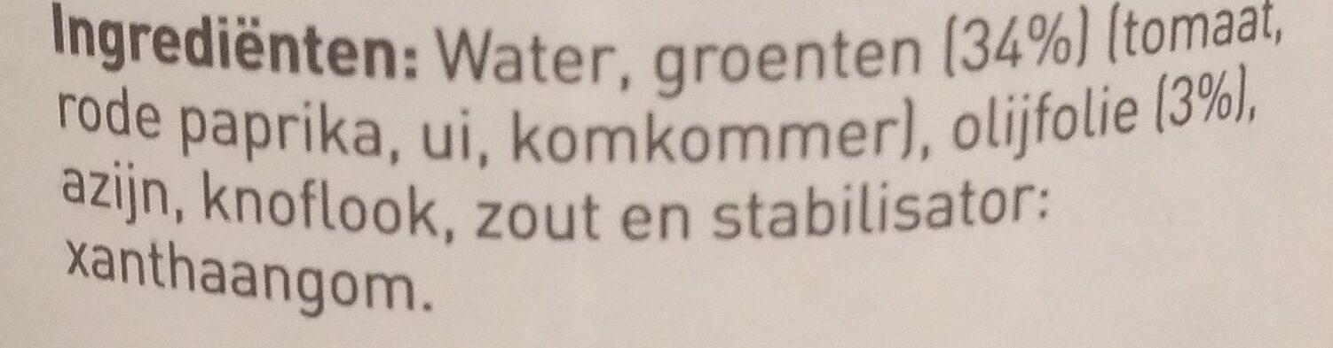 Gaspacho Sans Colorant Ni Conservateur - Ingredients - nl