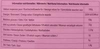 Ibérica Sobrasada - Informations nutritionnelles