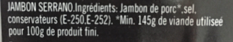Jamon Serrano - Ingredients - fr