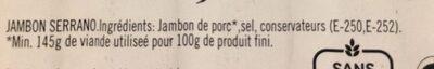 Jamón serrano - Ingredients - fr