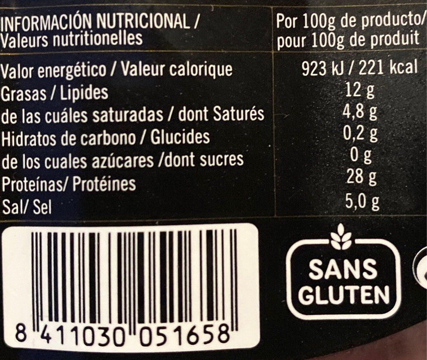 Jamón serrano - Nutrition facts - fr