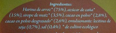 Xoko pops - Ingredients