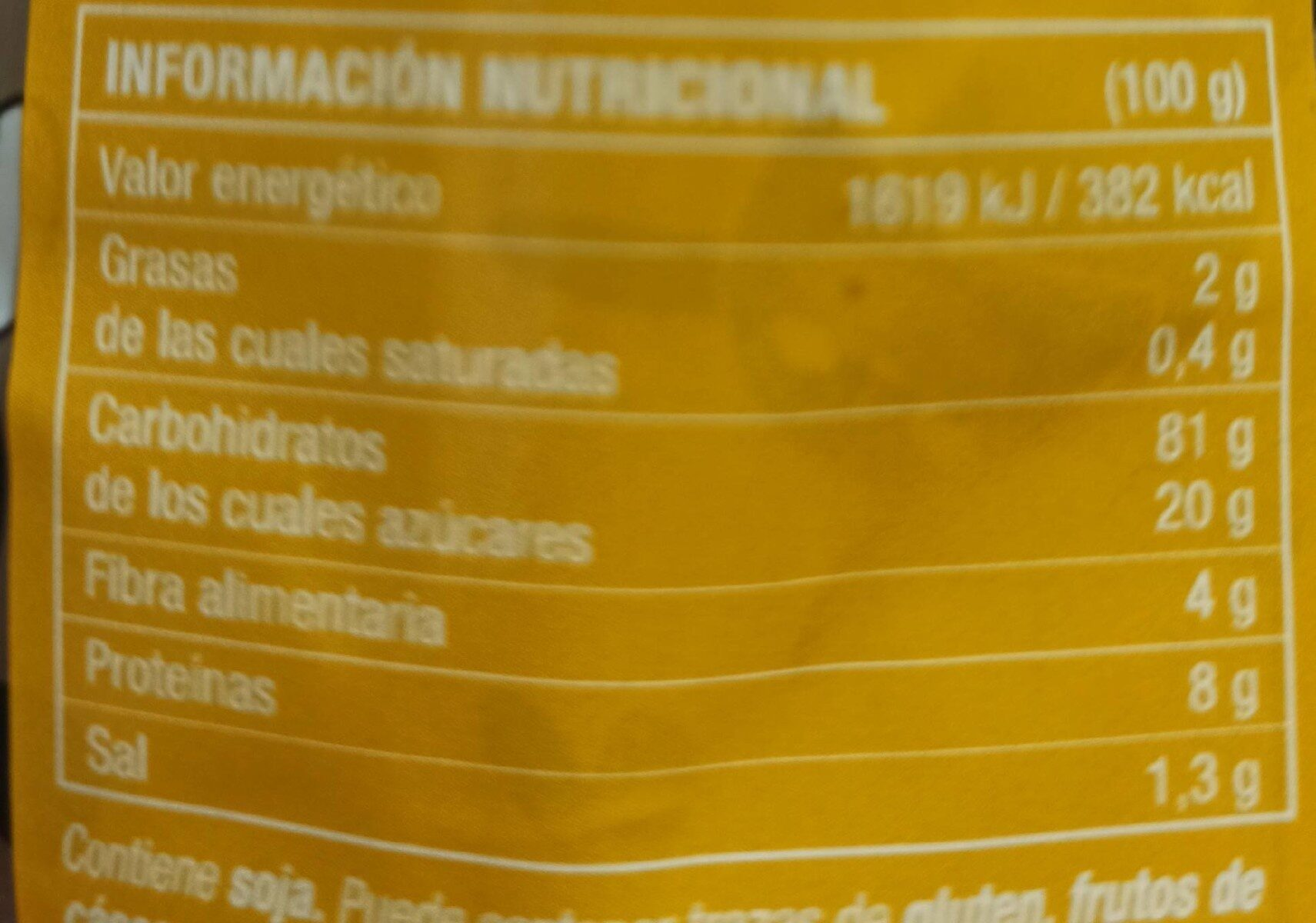 Xoko pops - Nutrition facts