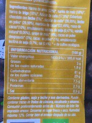 Xoco bols - Voedigswaarden