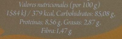Arroz largo integral bio - Información nutricional - es