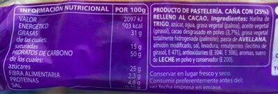 Choco - Ingredients - fr
