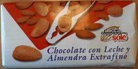 Chocolate con leche y almendras - Producto