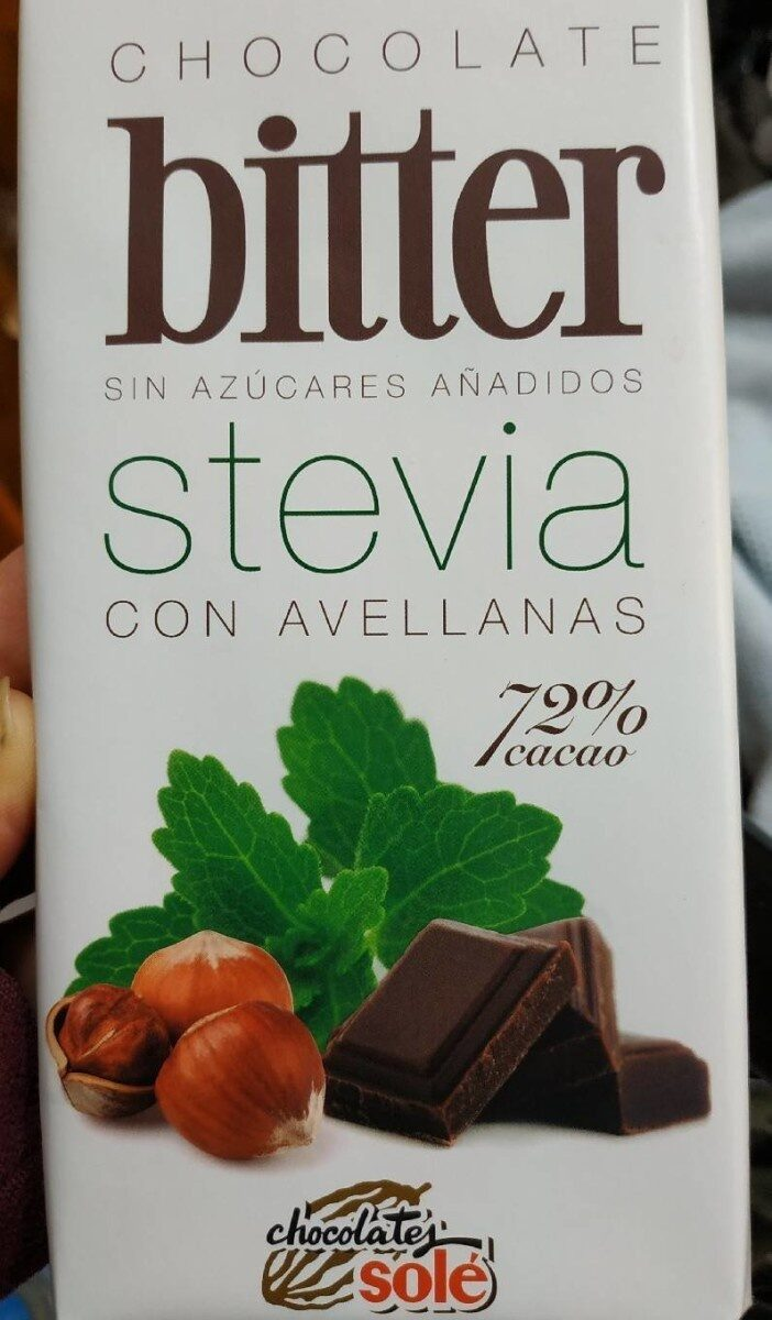 Bitter - Chocolate con stevia con avellanas - Producto - es