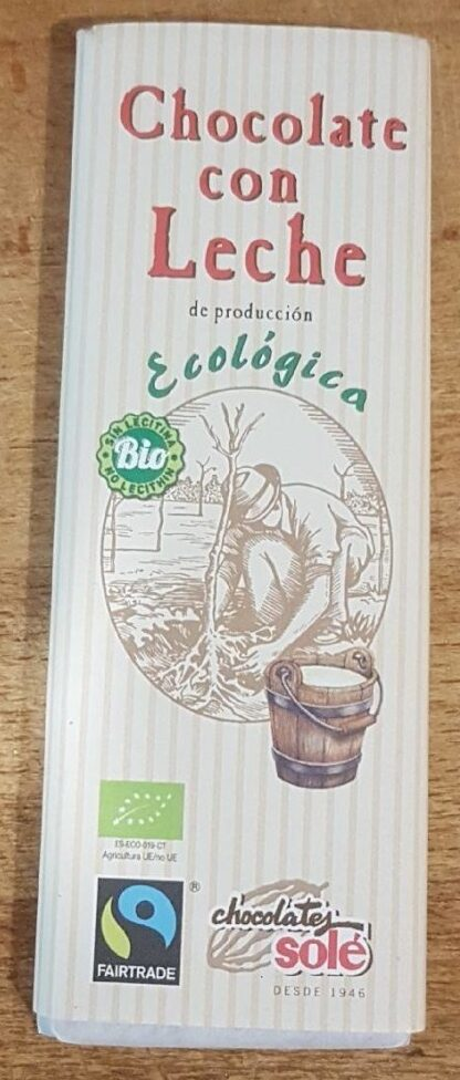 Chocolate con leche - Producto