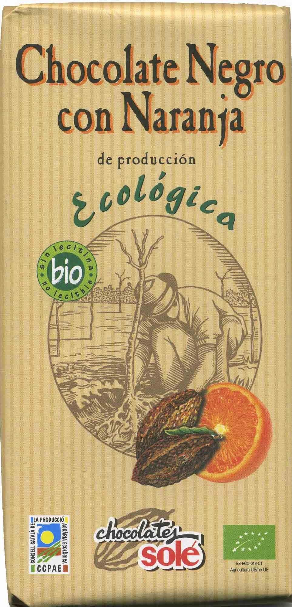 Chocolate negro con naranja 56% cacao - Producto - es