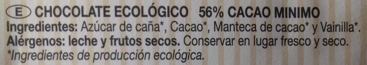 Chocolate negro 56% cacao - Ingrédients - es