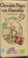 Tableta de chocolate negro con almendras 73% cacao - Product - es