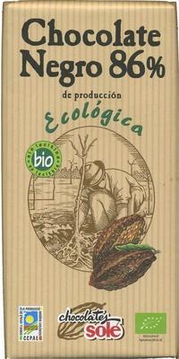 Tableta de chocolate negro 86% cacao - Producto