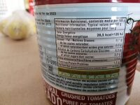 Tomate natural Martinete - Información nutricional - es