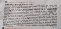 Nuggets de merluza - Información nutricional - es