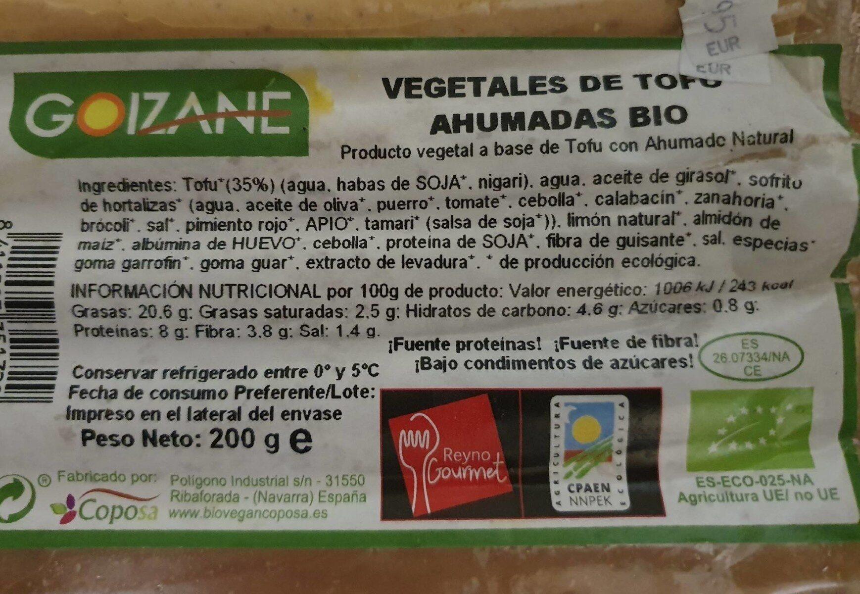 Vegetales de tofu ahumadas bio - Product - es
