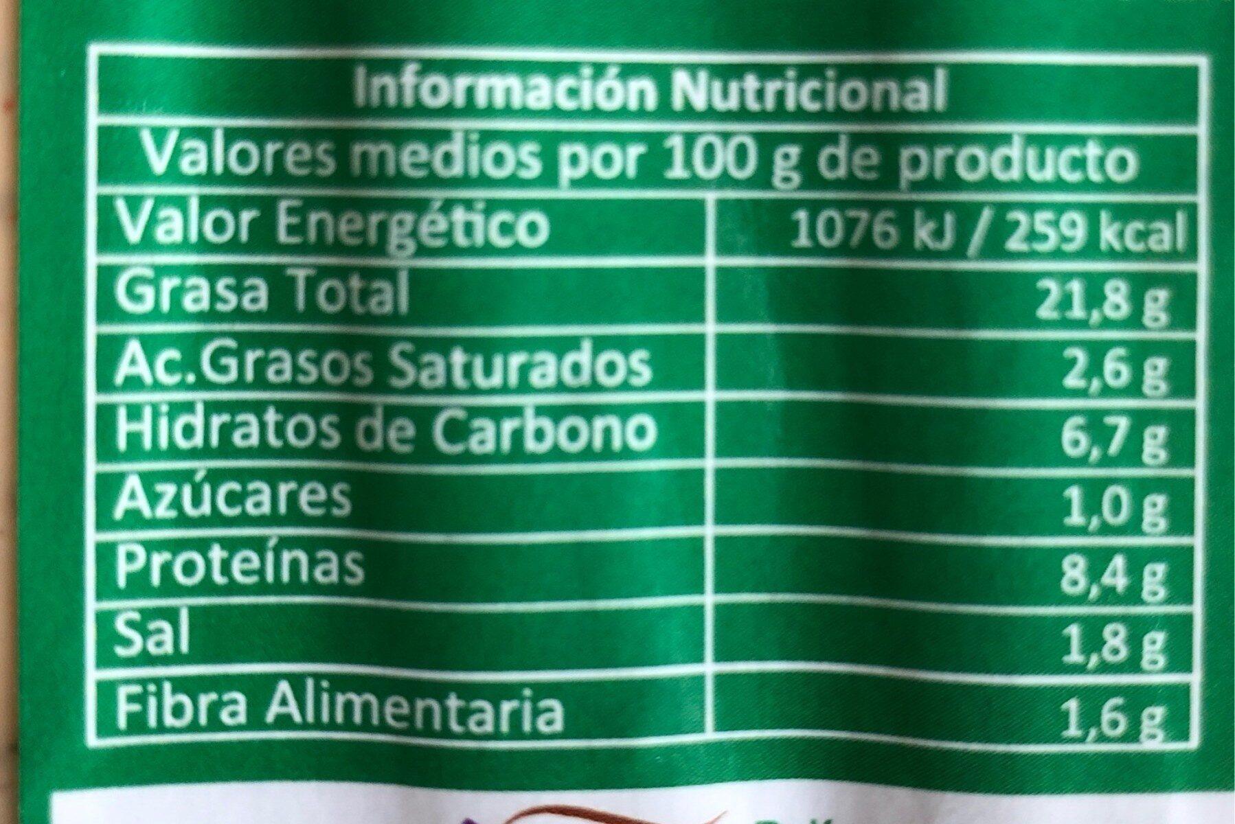 Salchichas vegetales de tofu - Informació nutricional