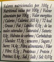 Melocotón en almíbar - Nutrition facts - es