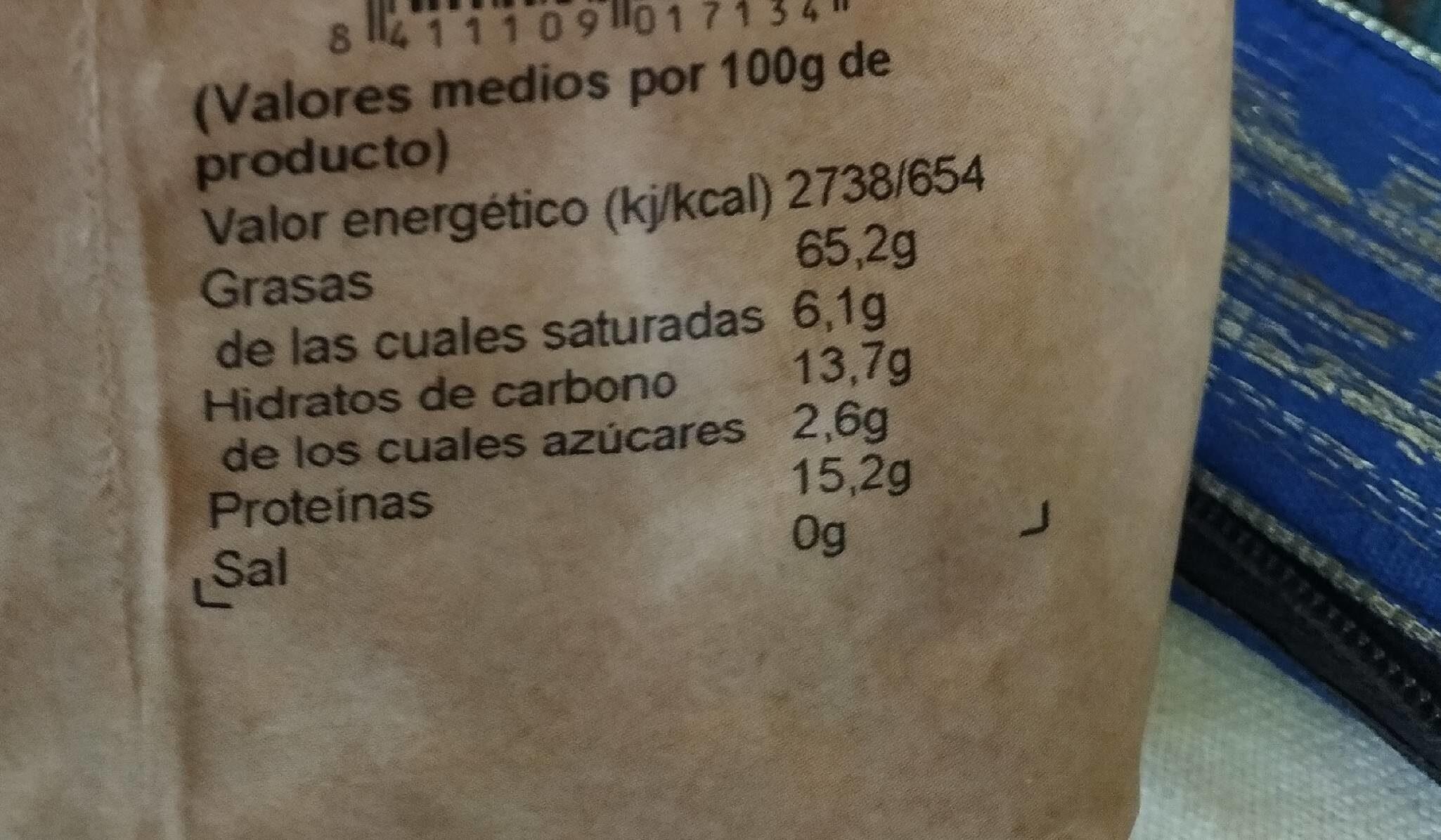 Nueces - Informació nutricional - es