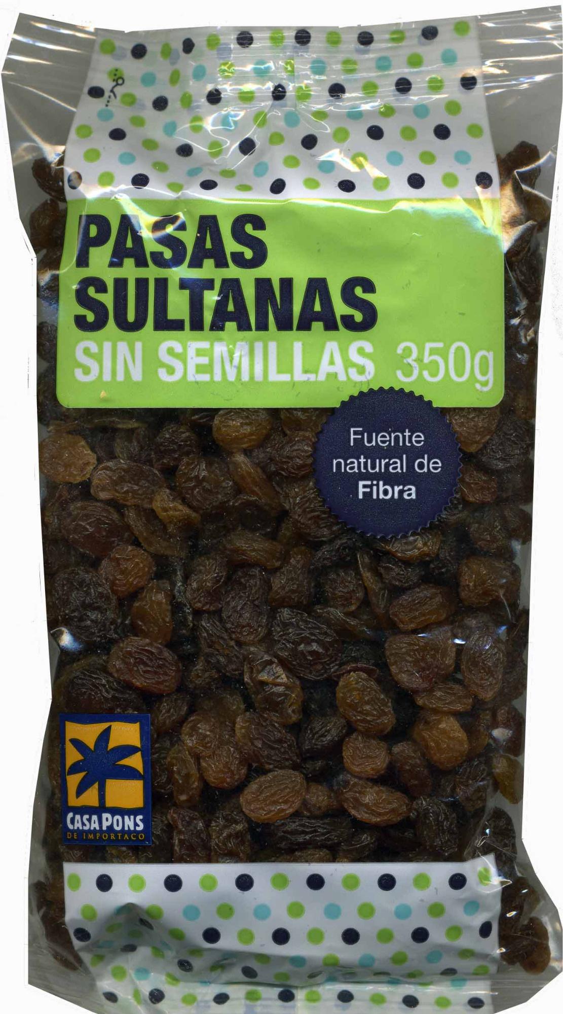 Pasas sultanas sin semillas - Product - es