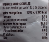 Dátiles con hueso - Informations nutritionnelles - es