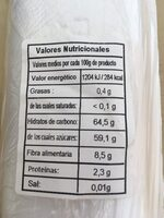 Dátiles de Túnez - Información nutricional - es