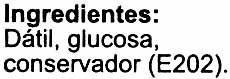 "Dátiles sin hueso ""Casa Pons"" Variedad Deglet Nour - Ingredientes"