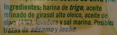 Picos - Brotsticks Mit Olivenöl - Ingredientes - fr