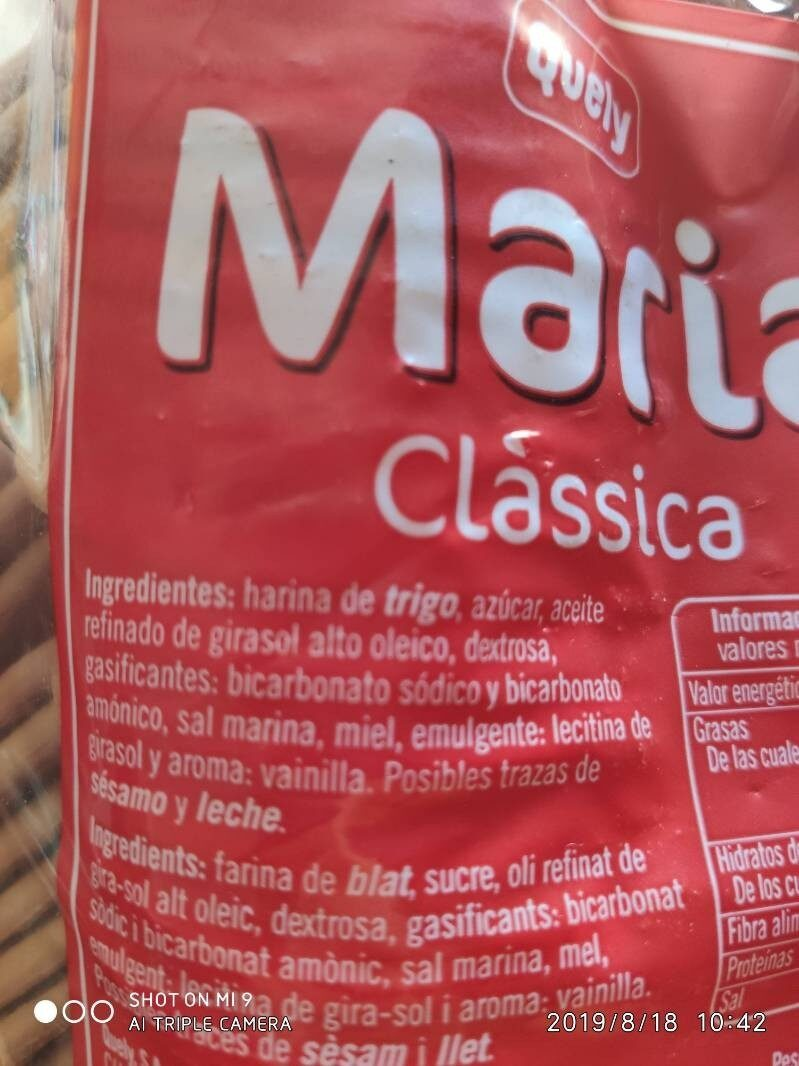 Maria Clasica - Ingredients