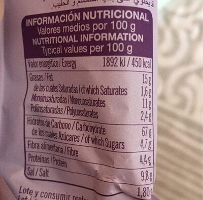 Palitos con semillas de chía - Informations nutritionnelles