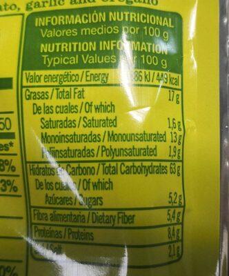 Quelitas snacks mediterranean - Nutrition facts
