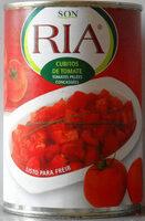 Tomates pelées concassées (Cubitos de Tomate) - Product - fr