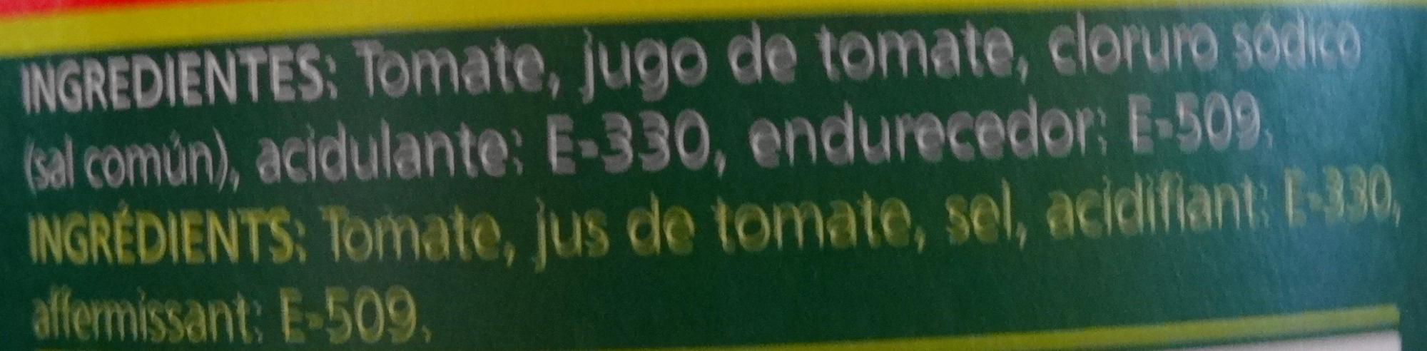 Tomates pelées concassées (Cubitos de Tomate) - Ingredients - fr