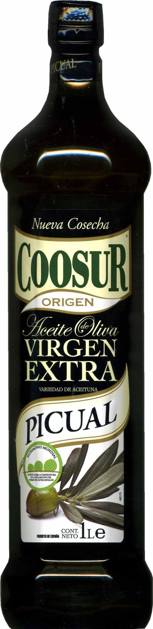 Aceite de oliva virgen extra Picual intenso botella 1 l - Producto - es