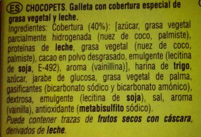 Chocopets - Ingrédients - fr