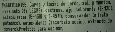 Taquitos chorizo extra - Ingrediënten - es