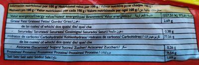 Tortas cenceñas - Informations nutritionnelles - es