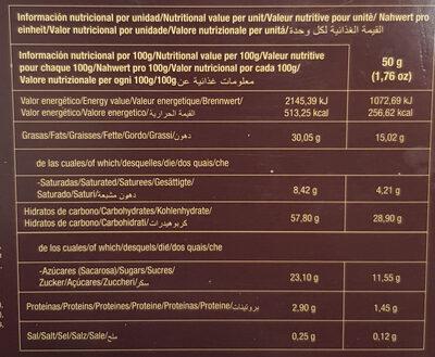 Miguelitos de la Roda con crema - Voedingswaarden - es