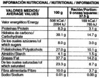 Chocolate negro con naranja edulcorado 70% cacao - Información nutricional - es