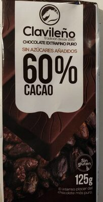 Chocolate extrafino puro 60% cacao