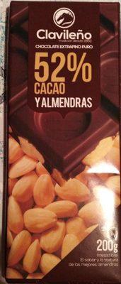 Chocolat 52% cacao et amandes - Producto