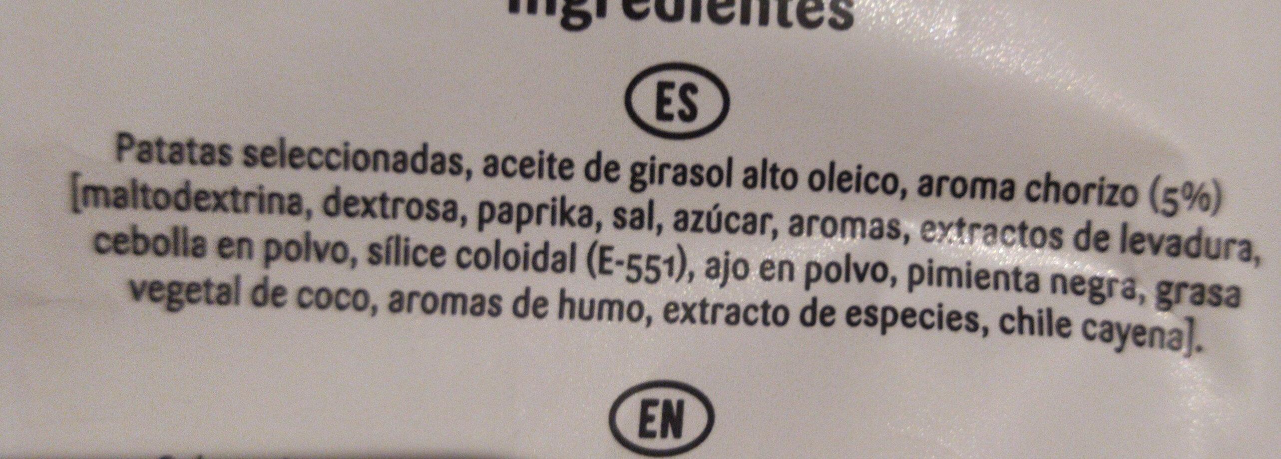 Patatas fritas sabor migas con chorizo - Ingredients - es