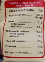 Gofio De Trigo - Ingredients - es